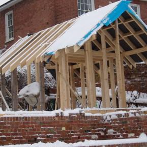 Building the workshop back in 2007.
