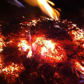 Bonfire firing - New Year's Eve 2015