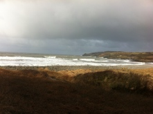Stormy beaches - exposing clay....
