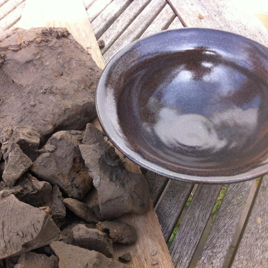 Beach clay tenmoku (cone 9-10 reduction)