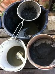 Sieving dhustone dust