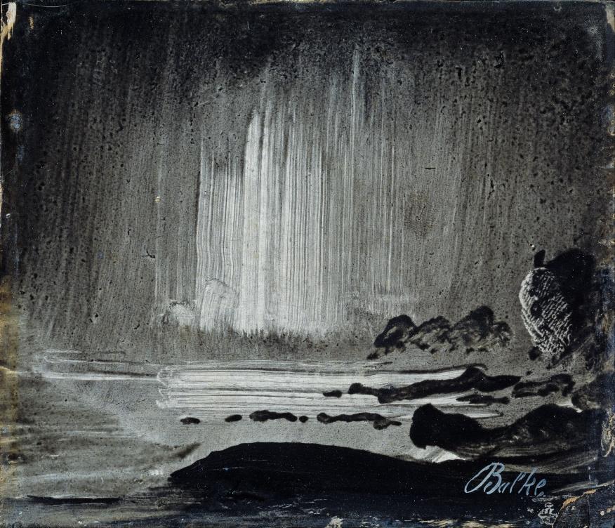 Northern Lights over Coastal Landscape (1870)