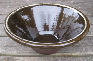 Pancheon of Clee Hill clay and glaze
