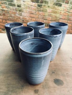 Ockeridge clay small batch of x6 pint beakers