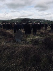 Funeral; with view to Soil Hill from Mount Sion