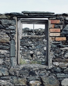 Window at tile and brick works site, Foreland