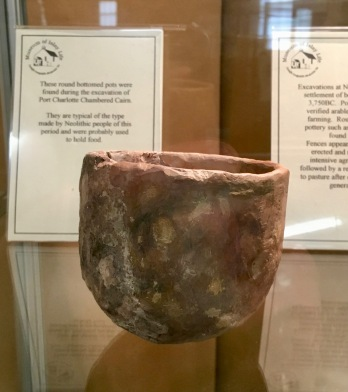 Neolithic cup from Port Charlotte burial chamber (Museum of Islay Life)