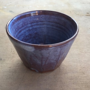 Well of the True Water clay cuach, with home made earthenware glaze